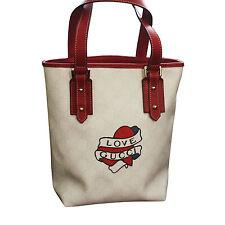 NEW Gucci Heart Tattoo Tote Bucket BAG HANDBAG w/ Big Love Gucci 257250