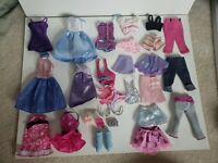 Barbie Accessories, Shoes, Dresses, Sunglasses, Tops, Bottoms, Hangars, Lot