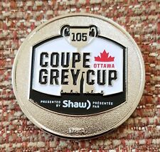 """Cfl / Lcf 2017 105 Grey Cup 1-1/2"""" Challenge Coin"""