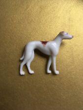 LOVELY ART DECO GREYHOUND DOG BROOCH Signed HORNIT.