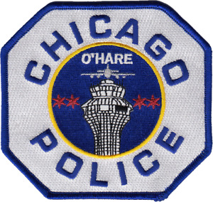 CHICAGO POLICE DEPARTMENT SHOULDER PATCH: O'Hare Airport