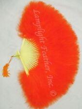 Feather Fan Marabou Orange per Each
