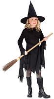 Classic Witch Child Girls Costume Belt And Hat Halloween Fancy Dress Funworld