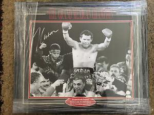 Julio Cesar Chavez Sr Autograph 16x20 Canvas Framed Boxing Photo JDA COA
