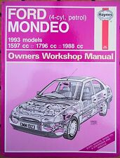 Ford Mondeo (Petrol) Haynes Workshop Manual, 1993.