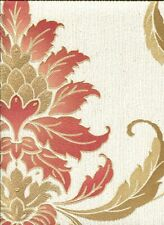 Viviani Opus Cranberry Cream Luxurious Heavyweight Italian Vinyl Wallpaper 33930