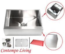 "30"" Stainless Steel Arrow Front Style Farm House Apron Kitchen Sink Single Bowl"