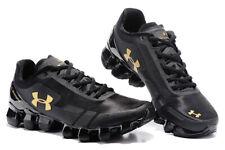 Men's Black Gold Under Armour Scorpio Running Sneakers Training Shoes US7-11