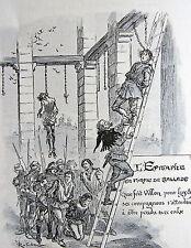 ROBIDA A. Souscription des Oeuvres de Francois Villon, illustrations de Robida,
