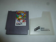 NINTENDO NES GAME CARTRIDGE THE SIMPSONS KRUSTYS FUN HOUSE SIGNED KEN WHEATON >>