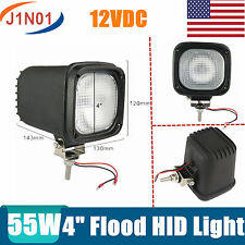 "2X 4""INCH 55W HID XENON DRIVING LIGHTS FLOOD 4X4 OFF ROAD UTE 12V SQUARE H3/H7 7"