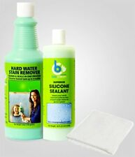 Bio Clean: Hard Water Stain Remover 20oz, Sealant 16oz and Magical Cloth