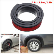 Rubber Black 2 Pcs 5.5cm/1.5M Widening Car Fender Flare Extension Wheel Eyebrow