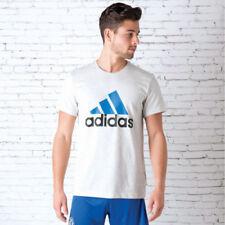 Magliette da uomo bianche adidas in misto cotone