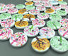 DIY 100PCS Wooden Buttons Mixed Tree Pattern Scrapbooking Crafts 2-holes 15mm