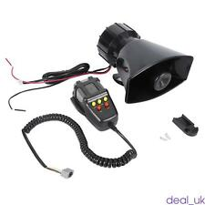 100W DC12V ABS Car Van Alarm Police Fire Loud Speaker PA Siren Horn MIC Assembly