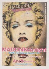 Madonna Night Japan Card Flyer 2009 Celebration