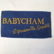 "Vintage Bar Towel Babycham Experience The Sparkle 16""x9"" Breweriana Decor"
