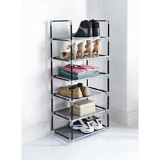Spaceways 6 Tier Storage Tower Rack Space Saving Unit Holds 12 Pairs of Shoe