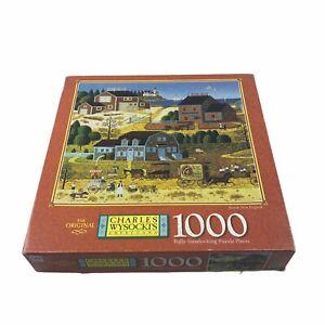 Charles Wysocki's Americana 1000 'Seaside New England' 2000 56.59 x 64.92cm Vtg