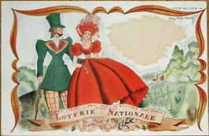Lottery/Lotterie Nationale 1930s French Artist-Signed Advertising Postcard