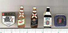 Lot of 5 beer pins > Michelob, Miller, Lite, High Life, Fosters > breweriana
