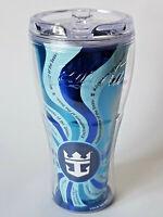 COCA COLA Royal Caribbean Cruise Blue Freestyle Souvenir Cup Tumbler EXCELLENT