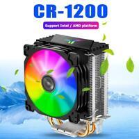 Jonsbo CR1200 2 Heat Pipe Tower CPU Cooler RGB 3Pin Cooling Fans Heatsink UK