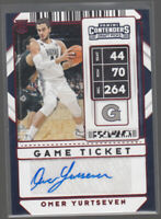 OMER YURTSEVEN 2020-21 Panini Contenders Draft Picks Red Foil Auto #100 RC Mint