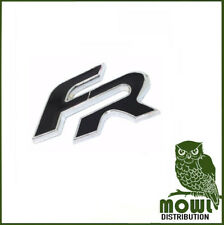 Seat FR Badge Black Logo 3M Sticky Tape Rear Leon Ibiza Cupra