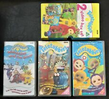 3 x TELETUBBIES VHS VIDEO TAPES MESSES AND MUDDLES TELETUBBIES AND THE SNOW+ BBC