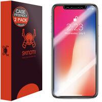 Skinomi TechSkin Apple iPhone X Screen Protector (2-Pack)