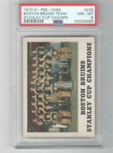 1970 OPC O-Pee-Chee # 232 PSA 8 Boston Bruins Stanley Cup Champs