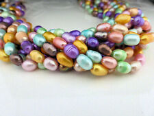 "Freshwater Rice Pearl Beads 5-6mm Mixed Candy Colours - 14"" Strand (FPSB010)"