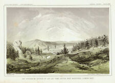 1860 USPRR Two views in the Bitteroot Mountains-orignal lithographs