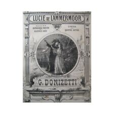 DONIZETTI G. Lucie de Lammermoor Opéra Chant Piano ca1870 partition sheet music
