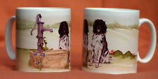 MUNSTERLANDER LARGE DOG MUG OFF TO THE DOG SHOW WATERCOLOUR PRINT SANDRA COEN