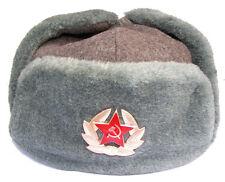 Authentic Russian Soviet Red Army USSR Winter Uniform Hat/Ushanka/58cm/US 7 1/4