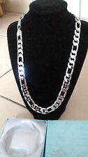 Sale! Silver 18K White Gold Plated Figaro Best Chain Necklace Men Women Partner