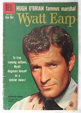 1959 Wyatt Earp #8 Western Comic Book SILVER AGE Hugh O'Brian Photo Cover TV VTG