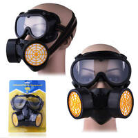 Chemical Mask with Dual Cartridge Filtration Painting Dust Eye Safety Goggles