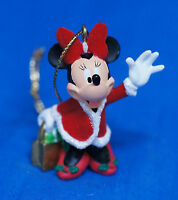 Disney Parks Minnie Mouse Christmas Shopping Ornament Figurine