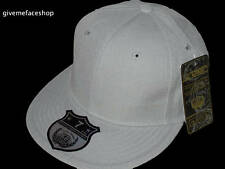 BRAND NEW PLAIN FITTED HAT CAP ETHOS FLAT PEAK GREY, MENS & LADIES BASEBALL HIP