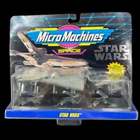 NEW 1993 Star Wars: Micro Machines Collection #1 Galoob Millenium Falcon & Other