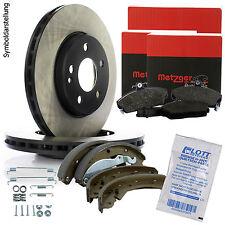 METZGER Bremsscheiben 300mm + METZGER Bremsbeläge hinten für Peugeot Boxer Fiat