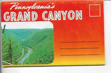 POSTCARD FOLDER-PENNSYLVANIA'S GRAND CANYON
