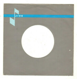 "JIVE. X 1.ORIG UK 7"" RECORD COMPANY SLEEVE (S).VG+ TO EX."