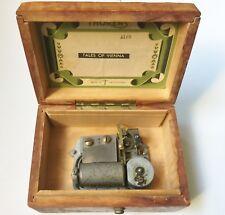 "rare Thorens Wood Music Box ""Tales Of Vienna"" Swiss Made (Repair & Parts)"