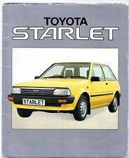 Toyota Starlet 1.0 GL 1985-86 UK Market Sales Brochure