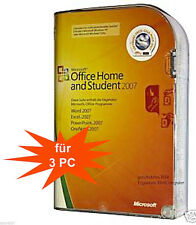 MS Office Home and Student 2007 dauerhafte Vollversion Box für 3PCs 32/64bit DE